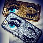Bling Glitter Girl Eyes Plating Sequins Hard Case Cover For iPhone X 8 7 Plus 6S