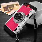 Retro 3D Camera Shockproof Back Phone Case Cover Free Rope For iPhone 8 6 7 Plus