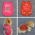 New Xmas Vest Gift For Small Pet Clothes Dog Cat Shirt Apparel Vest Various