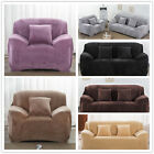 Furniture Protector Stretch Plush Winter Slipcover Sofa Cover For 1 2 3 4 Seater