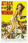 ATTACK OF THE 50 FT WOMAN Movie Poster [Various Sizes]