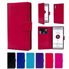 Book Wallet PU Leather Case Cover For Sony Phones + Screen Protector & Stylus