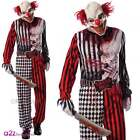 MENS EVIL CLOWN FANCY DRESS CIRCUS GORE SPOOKY ADULTS HORROR HALLOWEEN COSTUME
