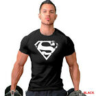 Men's Superman Gym Singlets T-shirt Bodybuilding Fitness Sports Workout Clothes