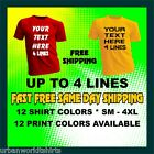 CUSTOM T-SHIRT PERSONALIZED YOUR TEXT T-SHIRT
