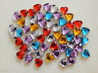 100 pcs Heart Flatback Embellishments 8mm red purple silver blue yellow