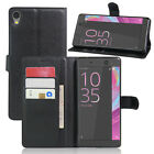 9 Colors Leather Wallet Flip Cover Stand Case For Sony xperia C6 ultra