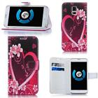 Patterned Case Cover Flip Wallet Card Holder For Apple iPhone / Wiko / Huawei