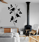Vinyl Wall Decal Branch Birds Leaves House Interior Room Stickers (ig3881)
