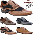 Red Tape Carn Two Tone Mens Leather Suede Brogues Lace Up Formal Shoes Tan /Navy