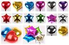 "Внешний вид - 1-24x 10"" 18"" Heart Round Star Solid Foil Balloon Helium Baby Shower Bride BDAY"