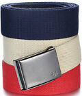 Cotton Mens Web Belt, 3 Pack - Clamp Buckle & Beer Bottle Opener -by Marino Ave