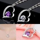 Fashion Silver White Chain #B Necklace With Heart Pendant Crystal wedding Gift