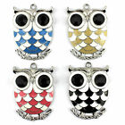 3 Pieces/lot New Fashion Enamel Jewelry Scarf Necklace Owl Pendant Accessories