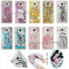 Pattern Liquid Glitter Water Sparkly Stars Bling Soft Rubber Cover For Mobiles