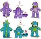 Teddy Clothes fits Build a Bear Teddies Little Dragon Outfit Onesie & Slippers