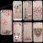 For HTC Bling Handmade Diamonds TPU Ultra Soft Thin Clear Gel Case Cover