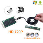 HD 720P 8mm Android Endoscope Borescope Inspection 2in1 USB Video Camera 2/5/10M