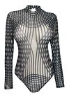 Women's Long Sleeve Sheer Bodysuit 161110