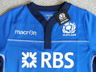 M L XL XXL SCOTLAND MACRON RUGBY TRAINING SHIRT JERSEY Blue / Navy NEW TAGS