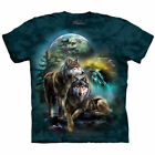 Wolf Pack Wolves Moon Enchanted Forest T Shirt The Mountain Animal Tee S-4XL 5XL