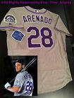 NEW Nolan Arenado Colorado Rockies #28 Grey/Road Authentic Men's Onfield Jersey