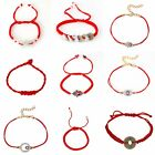 One Red Lucky Bracelet Kabbalah Evil Eye Hamsa Jewelry String Adjustable A11