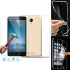 Tempered Glass & Ultra Slim Clear TPU Protective Case Cover For Various Phones