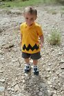 2T - XS Childs Cartoon Charlie Black Zig Zag BOYS Polo Shirt Halloween Costume
