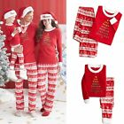 Christmas  Pyjamas For  Women Baby Kids Deer Sleepwear Nightwear Pajamas Set