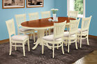 "42"" x 78"" OVAL DINETTE DINING ROOM TABLE SET IN BUTTERMILK & CHERRY"
