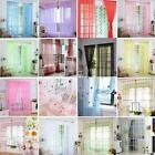 modern country style decorating - Colorful Floral Tulle Voile Door Window Curtain Sheer Valance Divider Home Decor