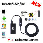 8mm 720P WIFI Iphone Endoscope Android Mini USB Camera 2/3.5/5M Tube Inspection