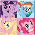 My Little Pony Squares MLP Canvas Print 40x40cm