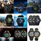 Dual Display Double Movement Electronic Waterproof Silicone Strap Quartz Watch