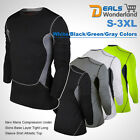 Mens Compression Under Skins Base Layer Tight Long Sleeve Shirt Athletic Top New