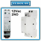 Contactor 12V 2P 25A WCT Reference ICT Modular Carril Din Rail Riel Relay Coil