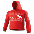 Christmas LUNCH T-Rex HOODIE hoody funny xmas x-mas 123t present him her