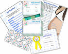 Boys Baby Shower Party Games, Winners Certificates in Blue