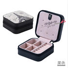 Travel portable Jewelry Box Earrings Rings Necklace PU Storage Box With Zipper