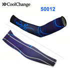 CoolChange Cycling Bike UV Sun Protect Sports Skin Arm Warmers Cover Cuff Sleeve