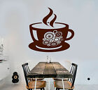 Vinyl Wall Decal Coffee Shop Cup Kitchen Decor Stickers Mural (ig3987)