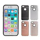 Silicone Hybrid Shockproof Soft Back Cover Case PC Bumper For iPhone 7 New
