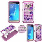 For Samsung J1/Express3/Amp2 Diamond Protective TPU+PC Bling Shockproof Cover