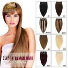 "7pcs 15""-28"" Full Head Clip In Virgin Remy Human Hair Extensions Straight Style"