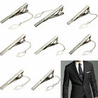 New Mens Silver Chrome & Gold Stainless Steel Standard Tie Clip Clasp Bars Pins
