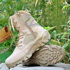 Mens Army Desert Comfort Leather Combat Military Ankle Boots Shoes flight boot