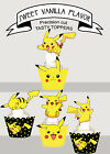 Pikachu Computer Game Birthday Party Cupcake Toppers Cup Cake
