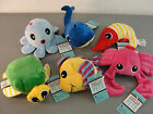 MARTHA STEWART PETS GENTLE PLAY SQUEAKY PLUSH SQUEAKS WHALE FISH TURTLE OCTOPUS