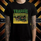 Traffic English Rock Band Legend Men's Black T-Shirt Size S to 3XL image